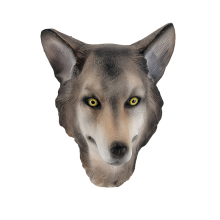 Best sellig Promotional high-quality adult-size latex mask wolf for animal costume