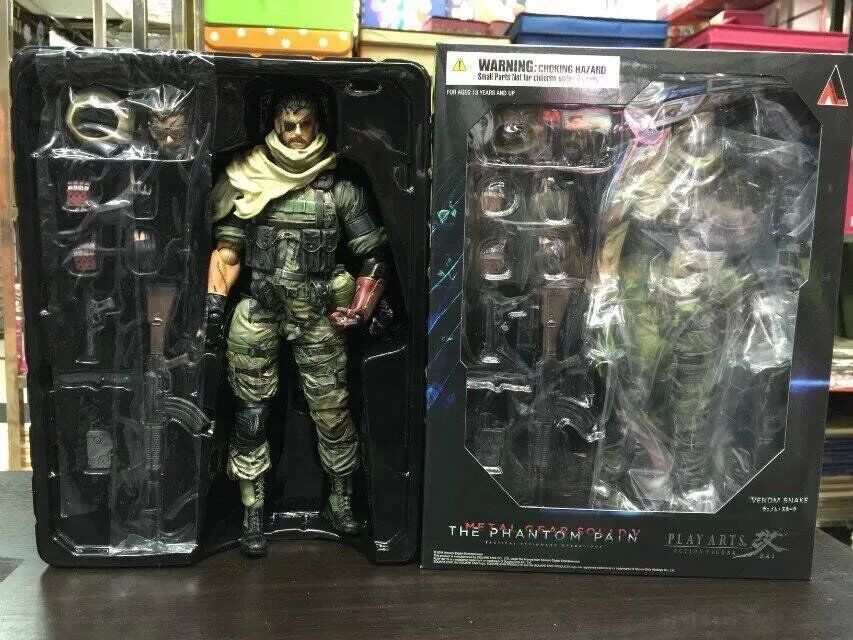 Anime Figure 25 CM Metal Gears SNAKE PVC Action Figure Collectible Model Toy Gift neca marvel legends venom pvc action figure collectible model toy 7 18cm kt3137