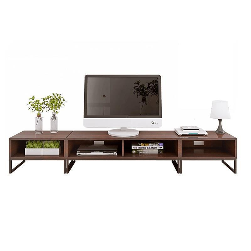 De Pie Furniture Mesa Entertainment Center Meja Wood Moderne Kast Riser Retro Wooden Tab ...