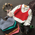 Children's han edition of new fund of 2016 autumn fashionable wool condole belt vest girl joker small vest free shipping
