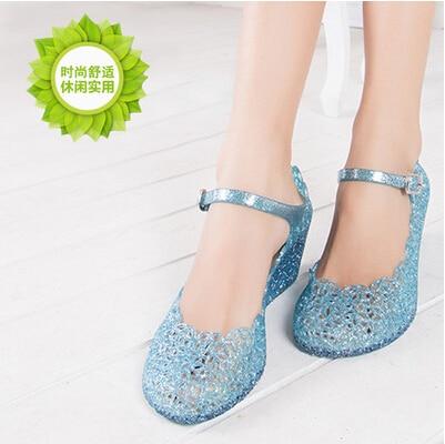 huge discount 6c4e6 1afa9 US $16.88  Frozen Cosplay Frozen Princess Shoes Frozen Elsa Cosplay Shoes  in Frozen Cosplay Frozen Princess Shoes Frozen Elsa Cosplay Shoesda Sandali  ...