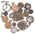 De Metal antiguo de Aleación de Zinc Mezclado Encantos Del Reloj Colgante para La Joyería Que Hace Diy Decorativo Reloj Encantos 15 Unids/lote C8498