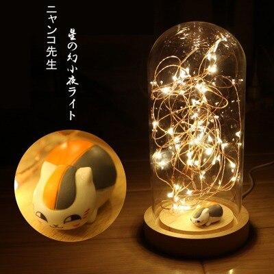 Natsume Yuujinchou Small night light cat teacher animation Hand do mode LED Desk lamp Furnishing articles