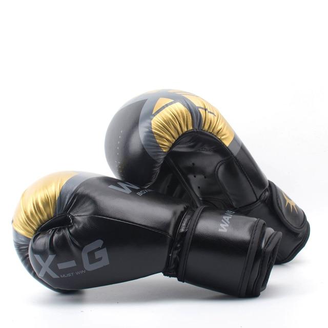 47ed6a163 Adultos de ALTA Qualidade Mulheres Homens de Couro Luvas De Boxe MMA Muay  Thai Boxe