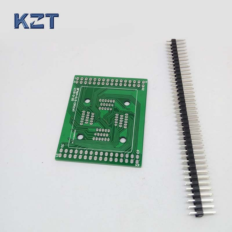 PCB Board for QFP64 TQFP64 LQFP64 Clamshell Structure Programming Socket Breakout board qfp64 pqfp64 tqfp64 lqfp64 gp qfp64 0 5 ic test burn in socket programming adapter 0 5mm picth free shipping