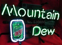 NEON SIGN For PepsiCo Mountain Dew Soft Drink Brand Garage GLASS Tube BEER BAR PUB Store