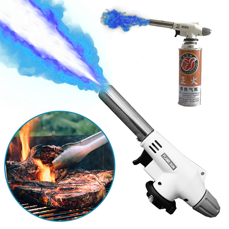 Outdoor  Welding Fire Tools High Temperature Butane Ignition Gas Torch Flame Soldering Switch  Fire Starter Camping BBQ Baking butane torch