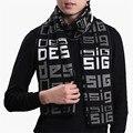 Winter Desigual Fashion Mens Scarf Wool Knit  Unisex Warm Male Scarves Designer Brand bufandas echarpes schal Wholesale NWJ062