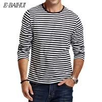 E BAIHUI 2016 Autumn Mens Striped Cotton T Shirt CT067