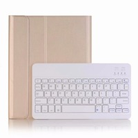 Ultra Slim Detachable Wireless Bluetooth Keyboard PU Leather Case Cover for New iPad 2017 2018 9.7 Air 1/2 with Pencil Holder
