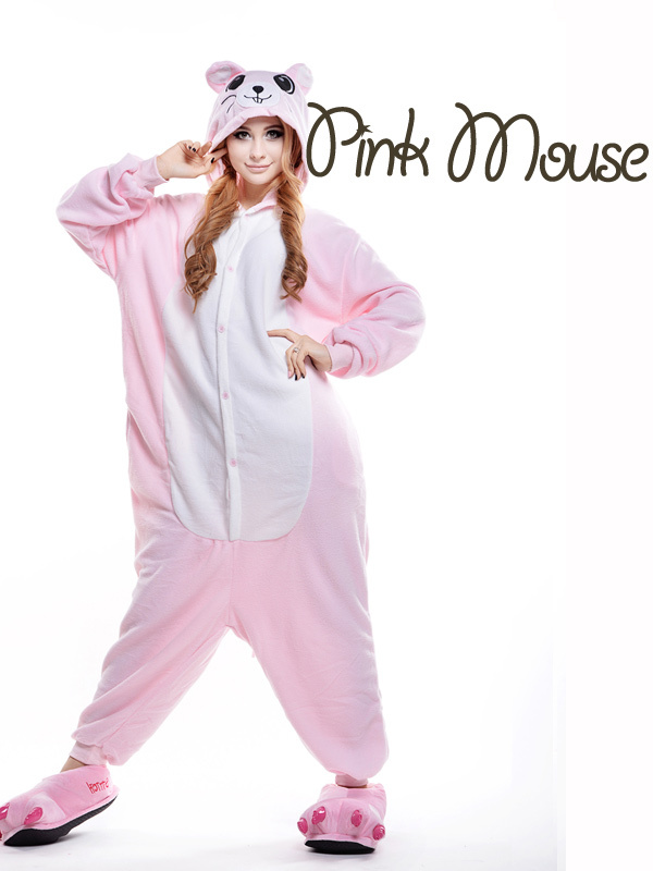 896849036526 Pink Mouse Footed Pajamas  Minnie Mouse Costumes for Adults  Plus ...