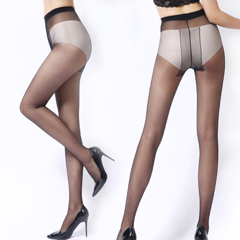 T Crotch Sexy Nylon Thin Pantyhose For Girl Women Solid Color Fashion Slim Tights Summer Style Skin Color Black Stockings Колготки