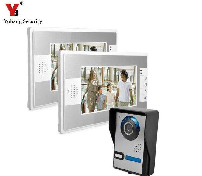Yobang Security 7 Color Screen Video Intercom Kit Door Eye Doorbell Video Door Phone Door Camera For Home Security Doorphone yobang security free ship 7 video doorbell camera video intercom system rainproof video door camera home security tft monitor
