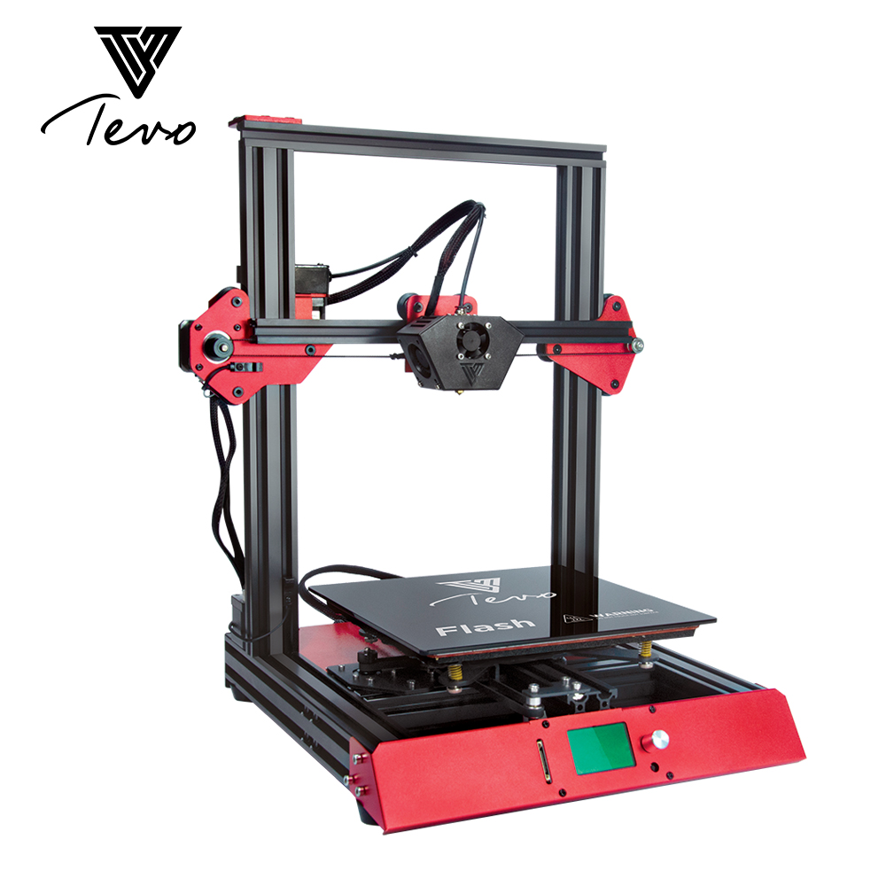 2018 TEVO Flash 3D Stampante Impresora 3D 3D kit Stampante Estrusione di Alluminio Prebuilt 98% SD card Titan Estrusore