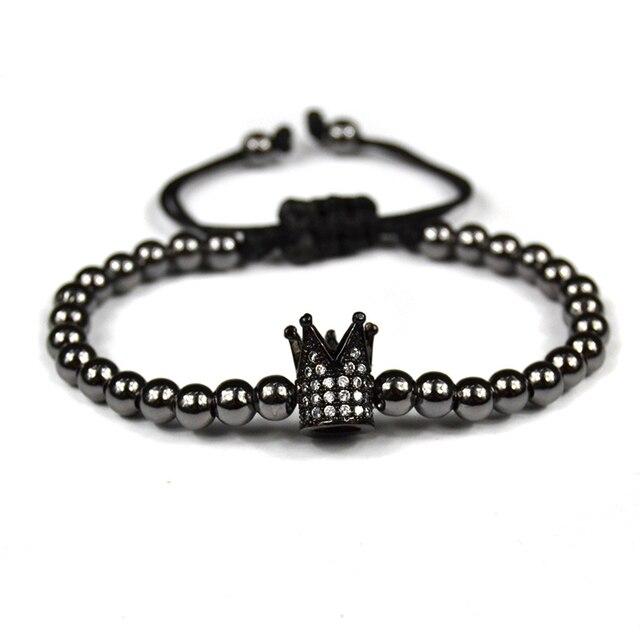 Anil Arjandas Bracelet homme 2017 Micro Pave Zircon couronne Perles  tressage Macramé couronne Bracalet bracelet femme