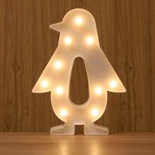 Светодиодный Пингвин моделирование светильник s декоративный светильник s ночной Светильник 3D лампа Новинка для детей украшения