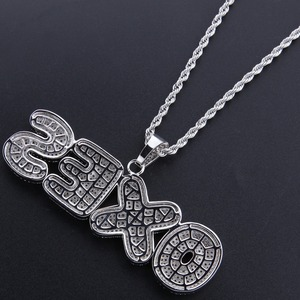 Image 5 - Uwin Custom Bubble Initial Letters Pendant Necklace Words Name With 4mm CZ Tennis Chains Full Iced Cubic Zirconia Jewelry