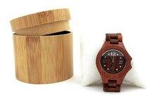 Round Wooden Watch Box