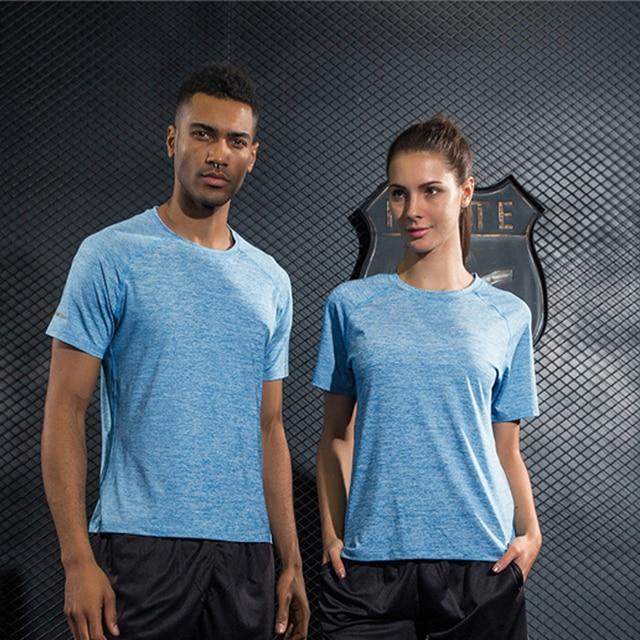 4b69cd7d649 Unisex Couple Outdoor Sport Running T-shirt Quick-drying Cool Short Sleeve  Tennis Gym