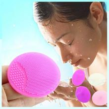 HOT SALE Facial cleansing brush 1pcs makeup sponge silicone wash pad face exfoliating blackhead