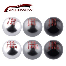 SPEEDWOW سيارة 5/6 سرعة دليل ترس نقل التحول المقبض الكرة M10x1.5 الموضوع شيفتر رافعة مقبض لهوندا سيفيك سيتي CRV