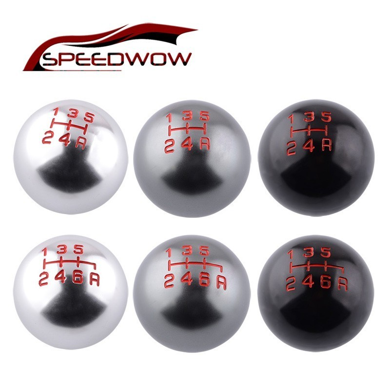 SPEEDWOW Car 5/6 Speed Manual Transmission Gear Shift Knob Ball M10x1.5 Thread Shifter Lever Handle For Honda Civic City CRV(China)