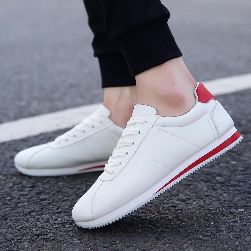 2017 hot Unisex sport Shoes White running Men Shoes Cheap Brand Mens Trainers Flats Vale ...