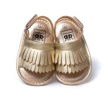 Premières marchettes d'été à frange souple | Chaussures de couleur bonbon pour bébés filles, pantoufles pour garçons, prémarcheurs QF 1