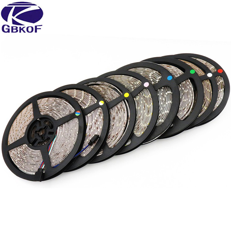 5M 300 LED SMD 3528 LED Strip IP20 No Waterproof Light Warm White Cool White RGB Red Blue Green Yellow Home Showcase Decoration