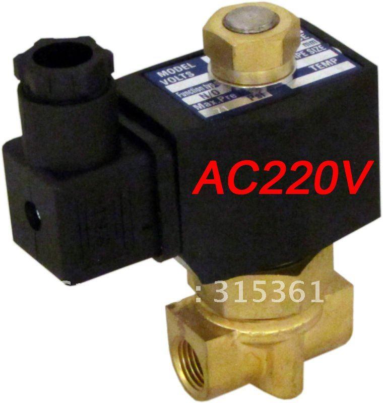 5 шт. AC220V нормально открытый 2 Way электромагнитный клапан воды, воздуха, масла, G3/8 ''2W040-10-NO