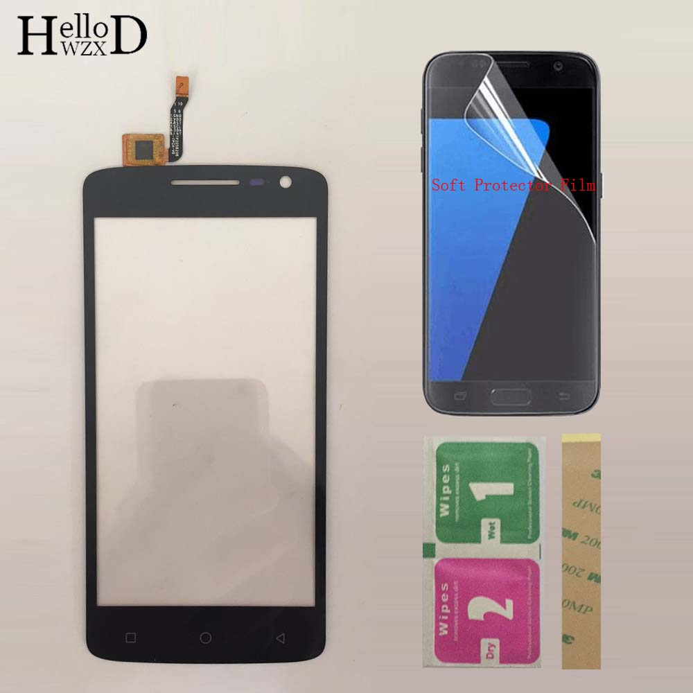 Mobile TouchScreen Touch Screen For Dexp Ixion EL250 Touch Screen Front Glass Digitizer Panel Sensor + Protector Film