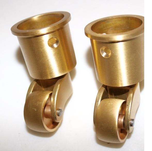2PCS/LOT Wheel D:25MM Copper Piano Caster Furniture Hardware Wheels t2 red copper d150mm x 25mm 2pcs