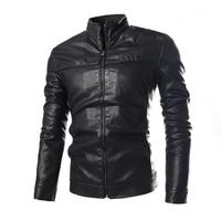 Autumn Winter Motorcycle Moto Vintage PU Faux Leather Jacket Men Casual Warm Jackets Coat Male Classic KJ 68