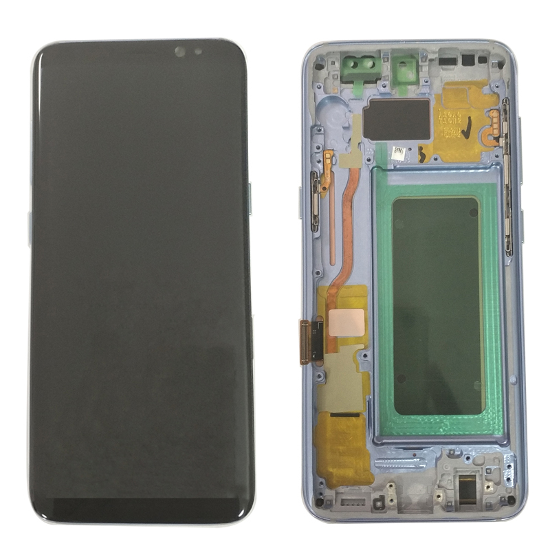 Super AMOLED For Samsung Galaxy S8 G950F G950U G950FD Lcd With Frame Display Touch Screen Digitizer Burn-in Shadow Lcd