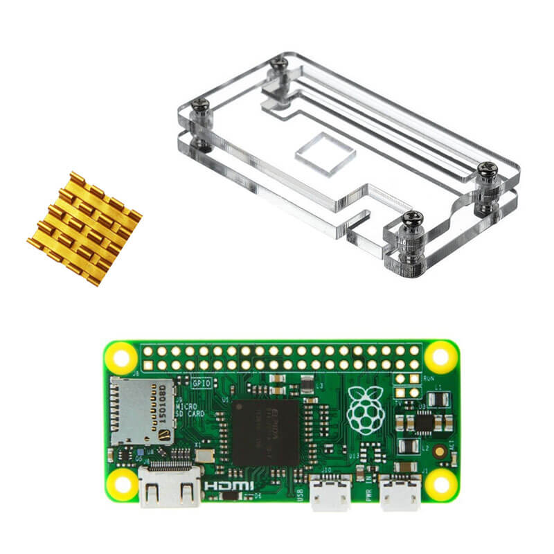 Prix pour Raspberry Pi zéro Pi0 Conseil Version 1.3 Linux avec le cas et Dissipateurs