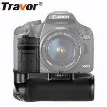 Travor Battery Grip for Canon 500D 450D 1000D Insurgent Xsi/XS/T1i DSLR Digital camera substitute BG-E5 work with LP-E5 or Six AA Battery