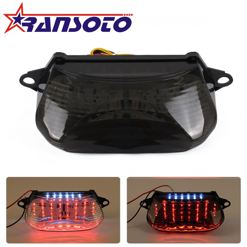 RANSOTO Motorcycle LED Tail Light with Turn Signals Integrated for for HONDA VTR1000 1997 2005