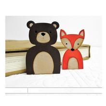 ФОТО cute cartoon bear metal die cuts cutting dies for diy scrapbooking photo album embossing paper cards decorative crafts new 2018