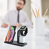 10W QI wireless cahrger Separate 3 in 1 Fast Wireless Charger for Apple iphone XR XS max X 8 plus or headphones or watches