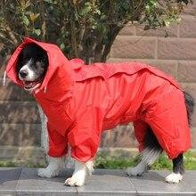 OnnPnnQ 2019 ПЭТ Малый плащ для больших собак одежда плащ для собак с капюшоном Водонепроницаемый дождь красивые куртки пальто Верхняя одежда