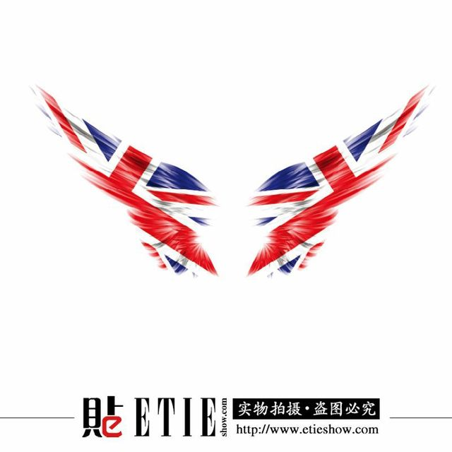 Etie direct 3m wrap vinyl car stickers union jack flag car styling window decals reflective america