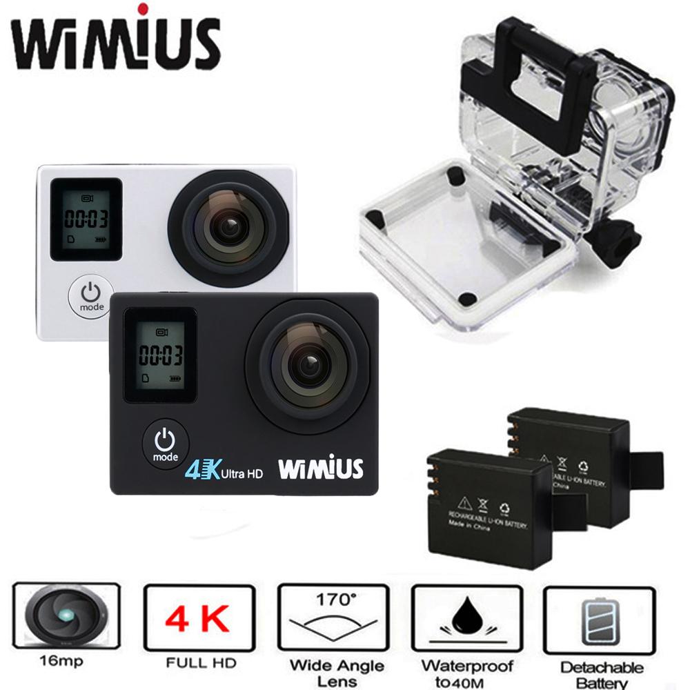 Prix pour Wimius 2.0 Écran LTPS + 0.66 Statut 4 K Wifi Action Sports Vidéo caméras Full HD 1080 P Aller Étanche 40 M Pro Vélo en plein air caméra