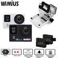 Wimius 2.0 ltps + 0.66 tela de status 4 k wifi vídeo esportes de ação câmeras Full HD 1080 P Ir À Prova D' Água 40 M Pro Bicicleta ao ar livre câmera