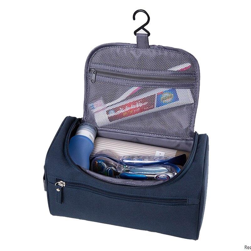 Купить с кэшбэком SEREQI Men Hanging Makeup Storage Bag Nylon Travel Cosmetic Bag Women Make Up Case Organizer Wash Toiletry Holder