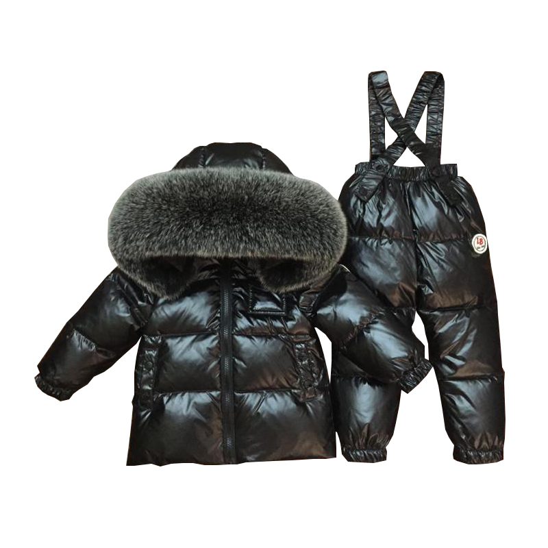 2551ea746 2018 New Children Ski Suit Winter Baby Boy Suit Duck Down Children ...
