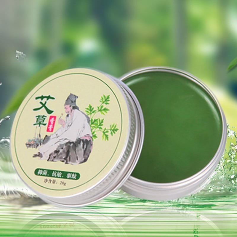 Wormwood Mosquito Repellent Pure Herbal Moxa Moxibustion Cream Mugwort Acupuncture Tsao Essence 1Pc