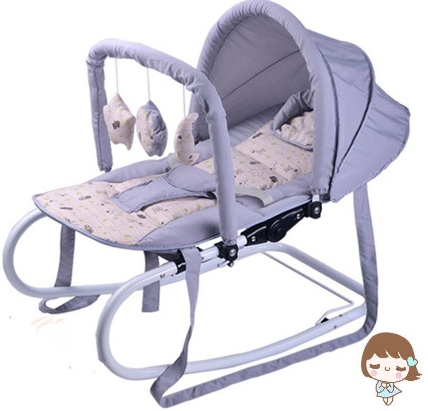 HTB1sLhwazzuK1Rjy0Fpq6yEpFXaC 6 gift in1 Baby rocking chair cradle baby soothing chair   rocking chair rocking chair sleeping artifact