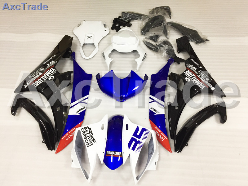 Motorcycle Fairings Kits For Yamaha YZF600 YZF 600 R6 YZF-R6 2006 2007 06 07 ABS Injection Fairing Bodywork Kit Blue White A881 injection molding bodywork fairings set for yamaha r6 2008 2014 blue white black full fairing kit yzf r6 08 09 14 zb77
