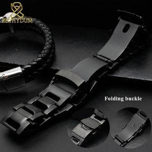 Image 3 - Solido cinturino in acciaio inox per GW 3500B/GW 3000B/GW 2000/G 1000 cinturino nero della fascia Del Braccialetto