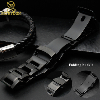 Nuovi Orologi Shock G   Solido Cinturino In Acciaio Inox Per Casio G-shock GW-3500B/GW-3000B/GW-2000/G-1000 Cinturino Nero Della Fascia Del Braccialetto